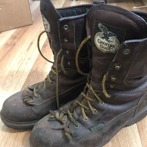 Georgia logger boot men's size 8